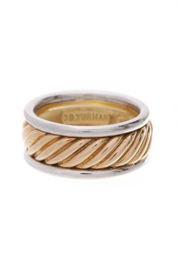 David Yurman Cable Band Ring Gold Silver
