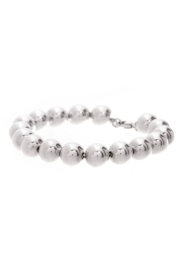 Tiffany & Co. sterling silver 10mm bead bracelet
