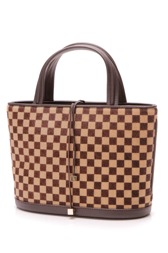 Louis Vuitton Impala Bag Damier Sauvage Calf Hair Brown