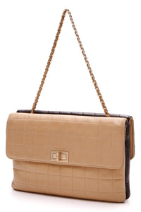 Chanel Double Face Bag Beige Black Flap Bag