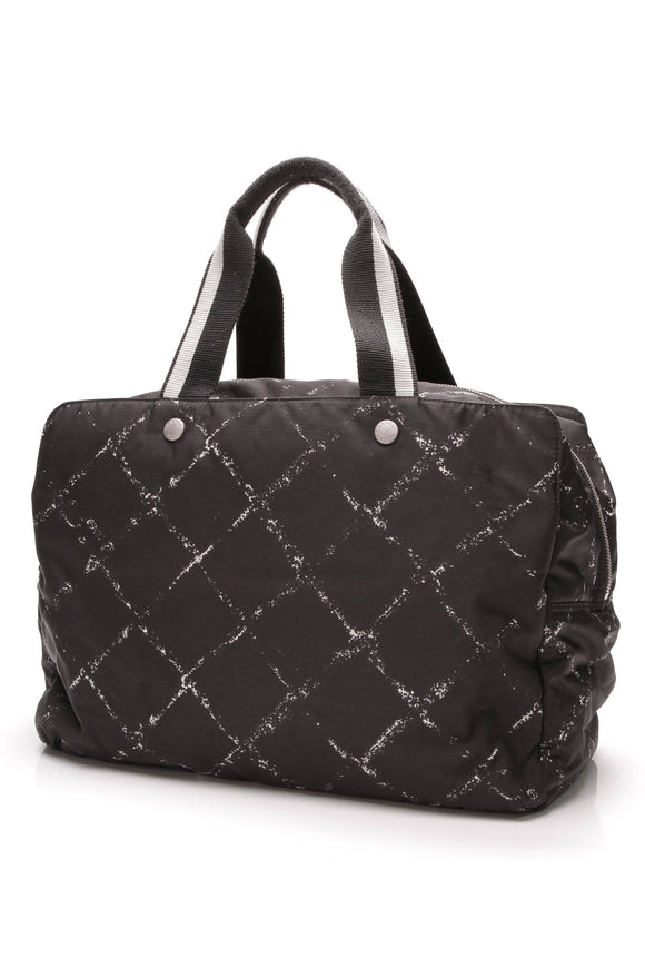Chanel Travel Ligne Bag Black Nylon