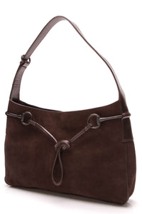 Gucci Horsebit Hobo Bag Brown Suede
