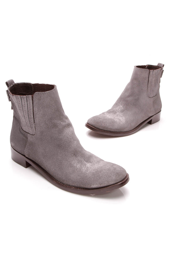 Tory Burch Wade ankle boots gray suede