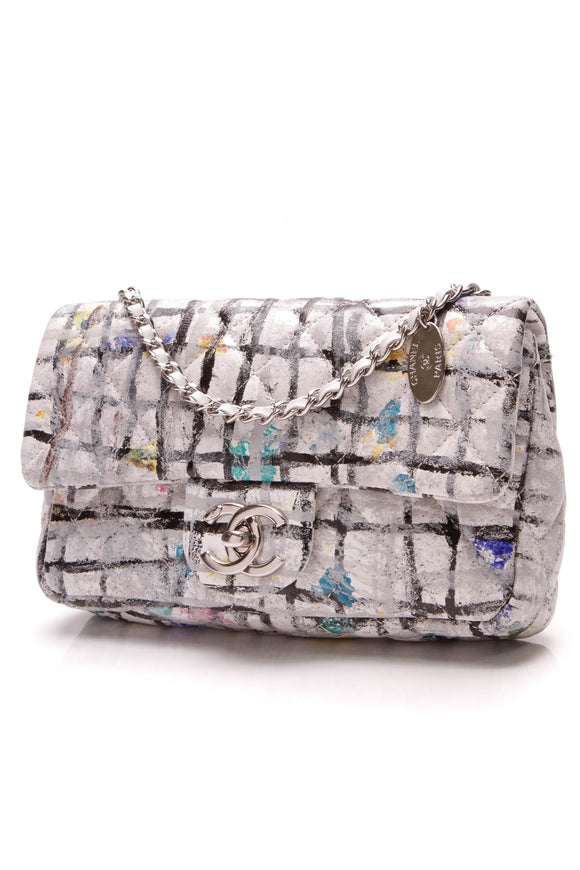 Chanel Graffiti Mini Flap Bag multicolor calfskin