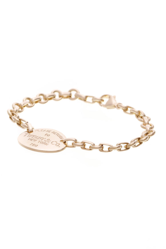 Tiffany & Co. Return to Tiffany Oval Tag bracelet 18K Gold