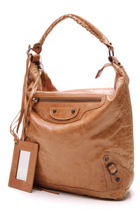 Balenciaga Day Hobo Bag Camel Leather