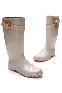 Burberry Rubber Studded Buckle rain boots gray size 36
