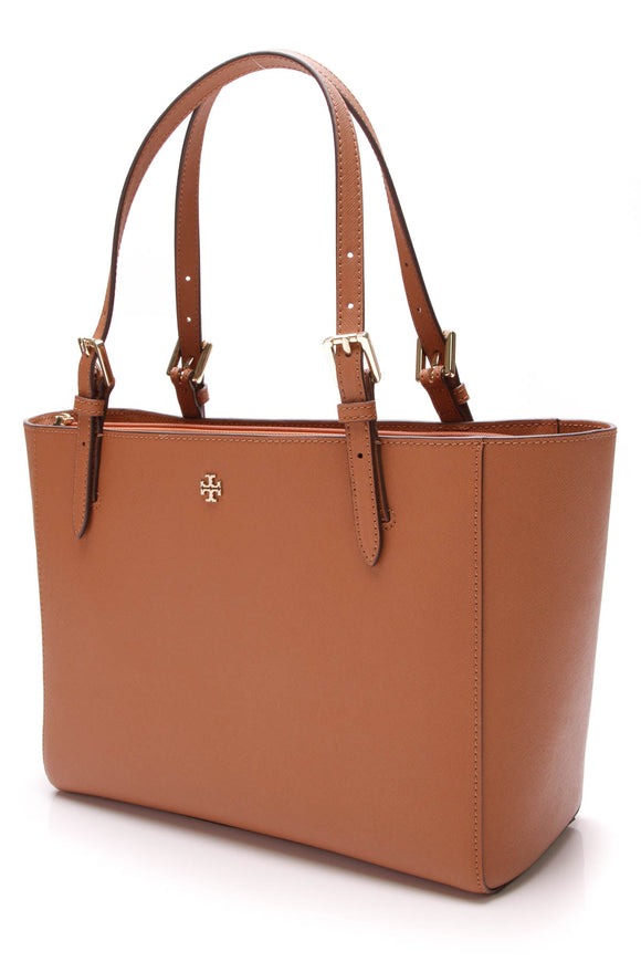 Tory Burch York Buckle Tote Saffiano Leather Brown