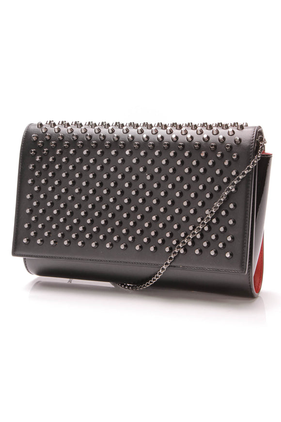 Christian Louboutin Paloma Chain Clutch Bag Black