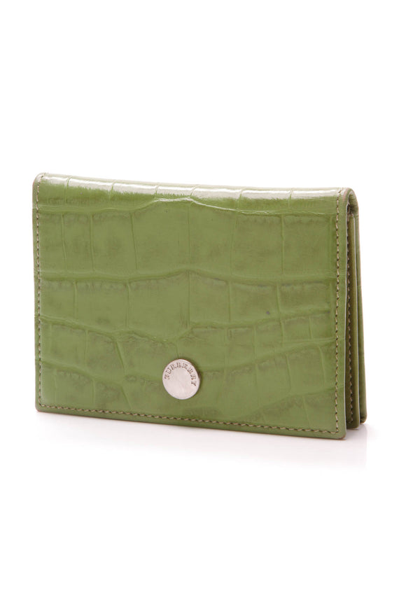 Burberry Card Holder alligator green