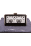 Oscar de la Renta evening clutch bag black resin