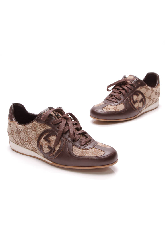Gucci Royal Sport GG Sneakers Brown Size 36