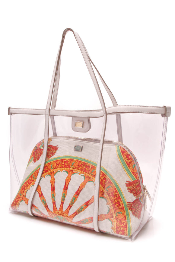 Dolce and Gabbana Escape Shopper bag clear multicolor