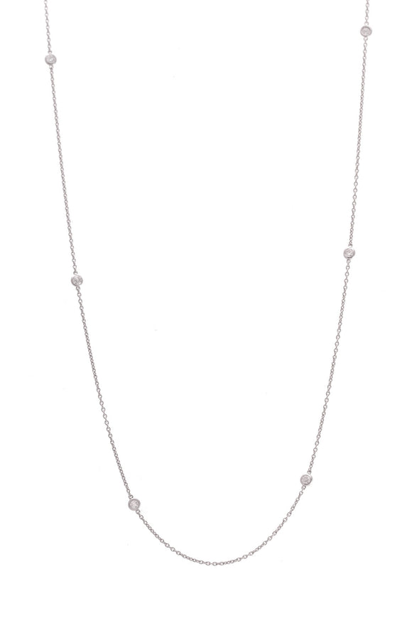 Tiffany & Co. Diamond By The Yard Necklace Long Platinum