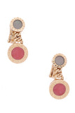 Bvlgari Drop Earrings Gold Pink Green