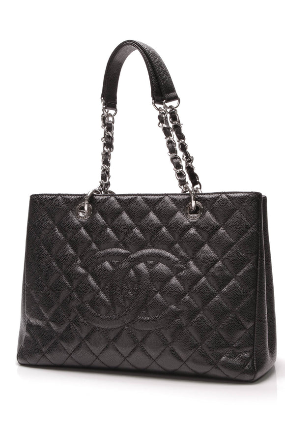 Chanel Grand Shopping Tote Bag Caviar Black