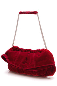 Thakoon velvet evening bag red