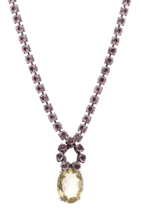 Iradj Moini Long Necklace Purple Glass Lemon Quartz