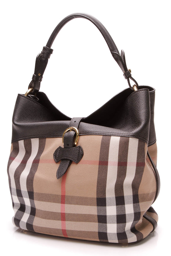 Burberry Medium Sycamore Hobo Bag Nova Check