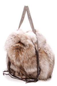 Christian Louboutin Marianna Rider tote bag coyote fur