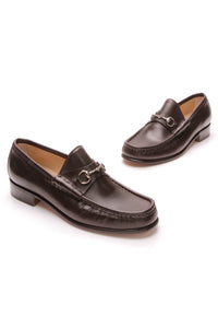 Gucci Horsebit Loafers Brown Leather Size 8