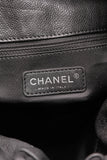 Chanel Large Elastic Tote Bag Glazed Caviar Black
