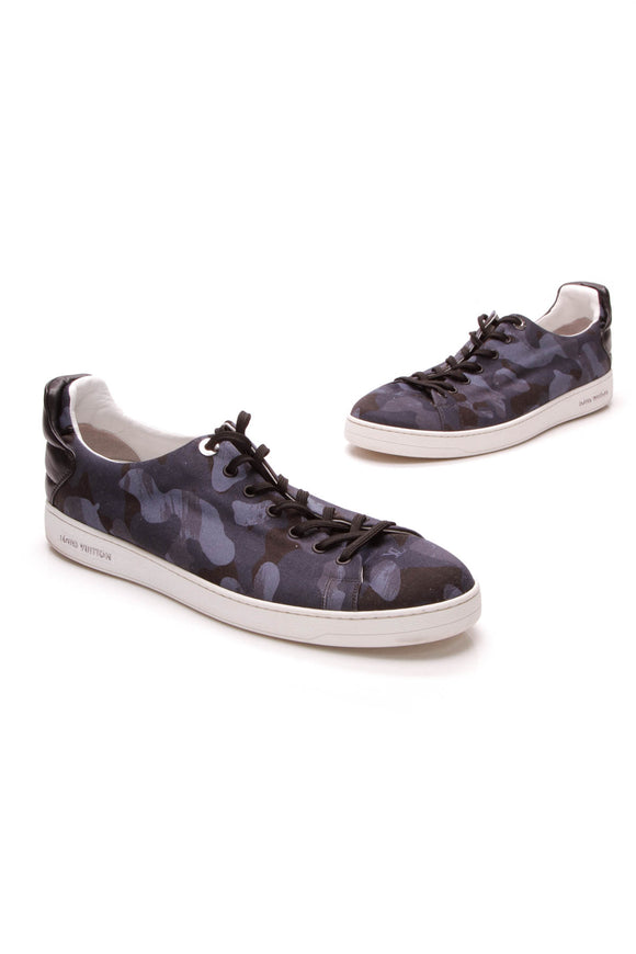 Louis Vuitton Frontrow Sneakers Navy Camouflage Size 11