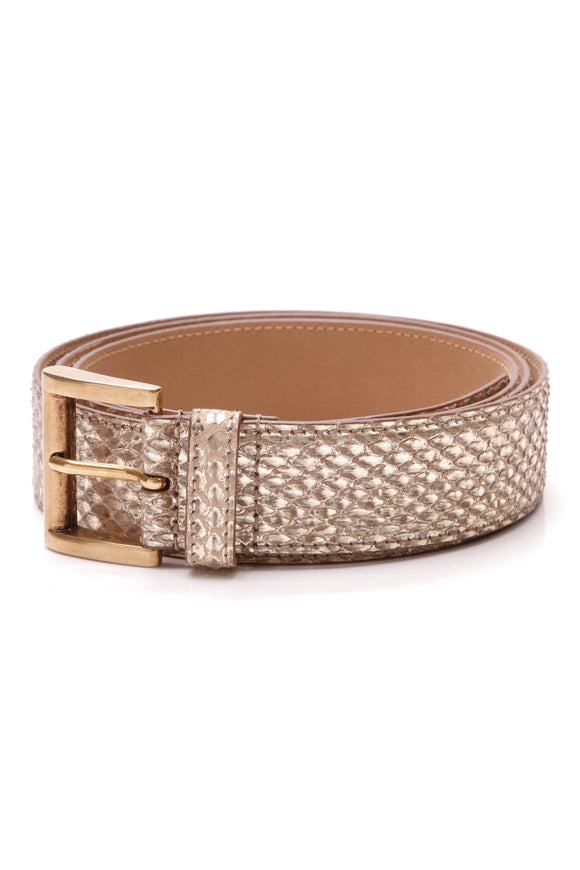 Prada Belt Gold Snakeskin