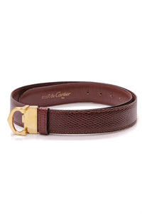 Cartier Reversible Belt Bordeaux Lizard Burgundy