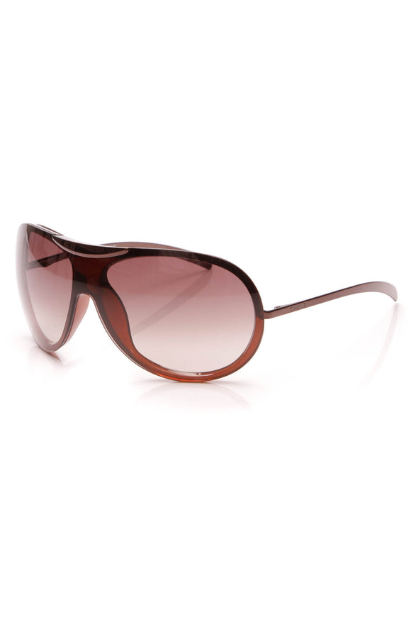 Chanel Shield Aviator Sunglasses Brown