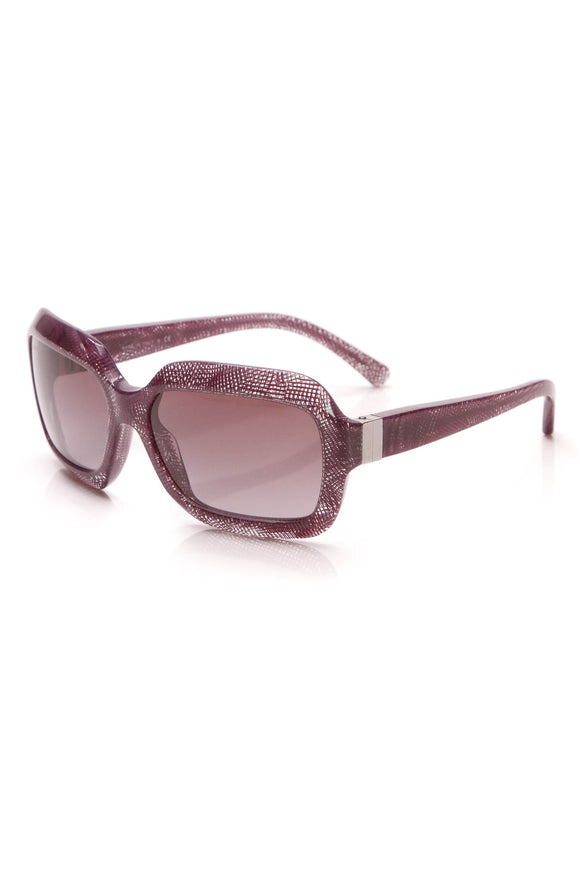 Chanel Print Square Sunglasses Purple