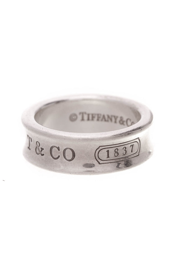 Tiffany & Co. 1837 band ring sterling silver