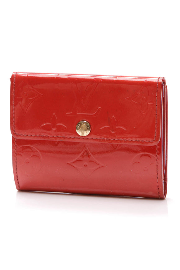 Louis Vuitton Ludlow Wallet Vernis Rouge Grenadine Red Patent