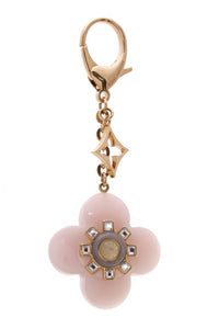 Louis Vuitton Fleur d'Etolie key holder bag charm pink gold