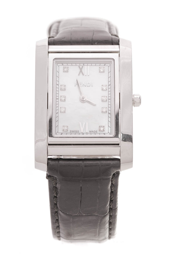 Fendi 7600m Rotating Face Watch Stainless Steel