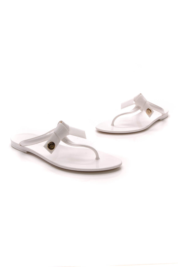 Louis Vuitton Seastar Thong Sandals Rubber Size 37 White