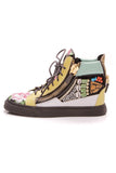 Giuseppe Zanotti Shell Embellished Mens High-Top sneakers size 37 multicolor
