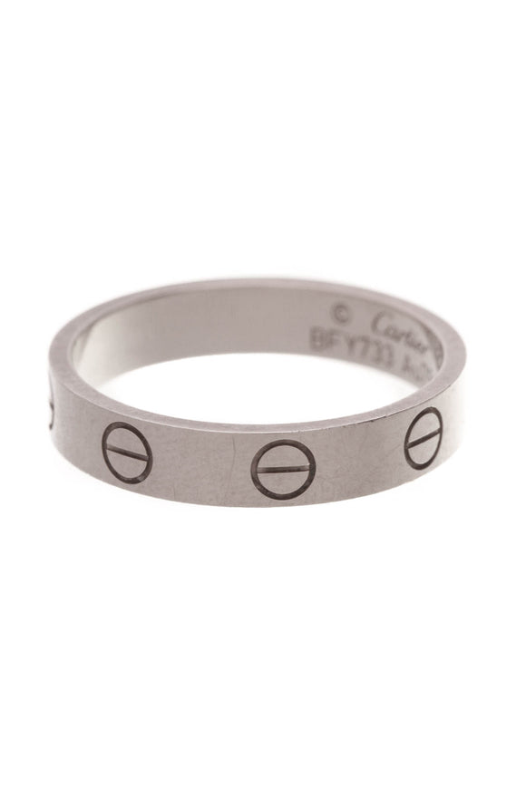 Cartier Love Ring White Gold 18K