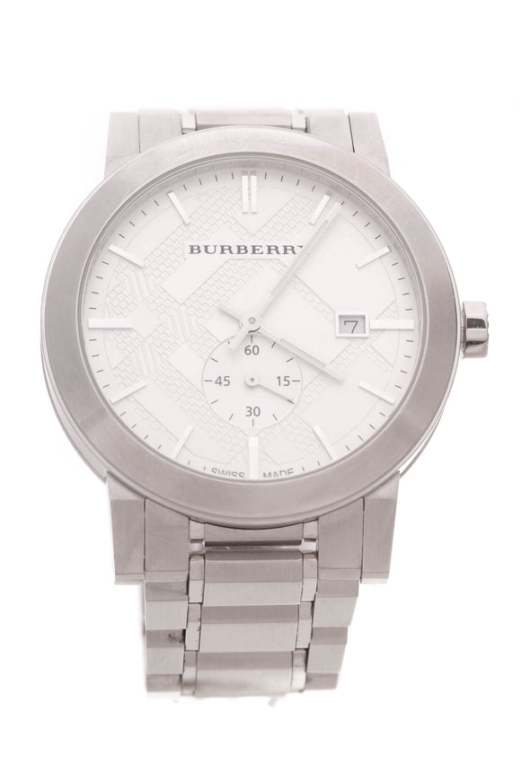 Burberry 42mm Mens Watch Stainless Steel