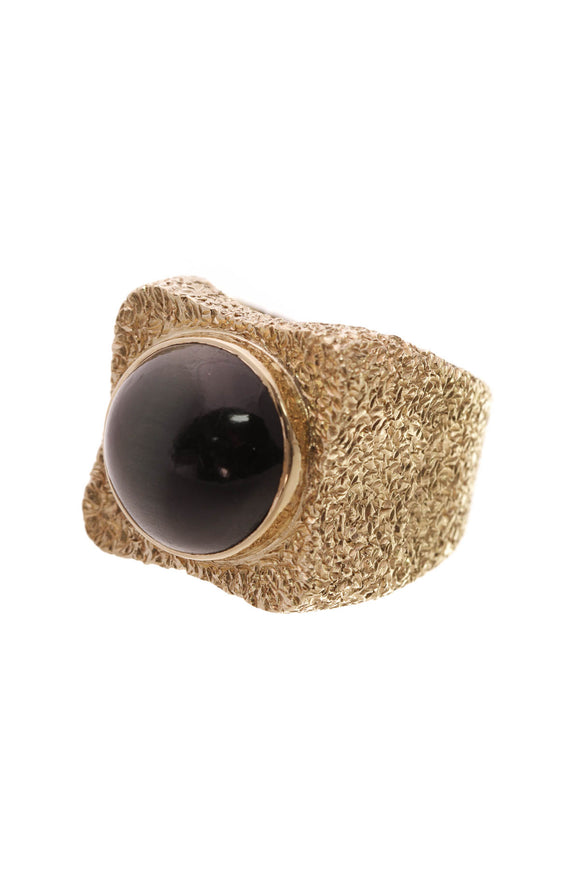 18K Yellow Gold Cats Eye Tourmaline Ring