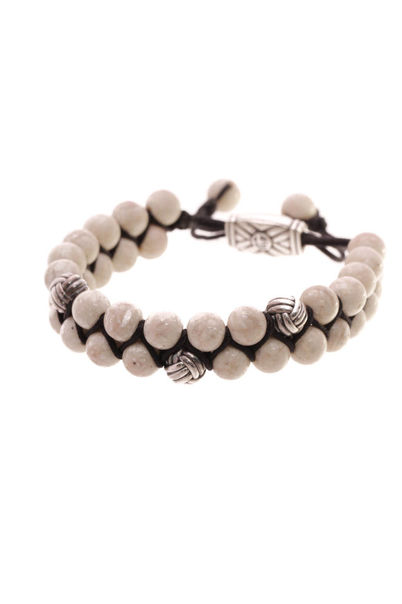 David Yurman Spiritual Beads Bracelet Sterling Silver/Ivory