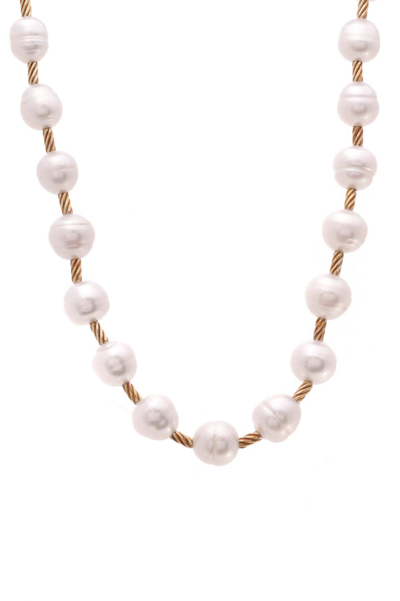 David Yurman Gold Pearl Necklace