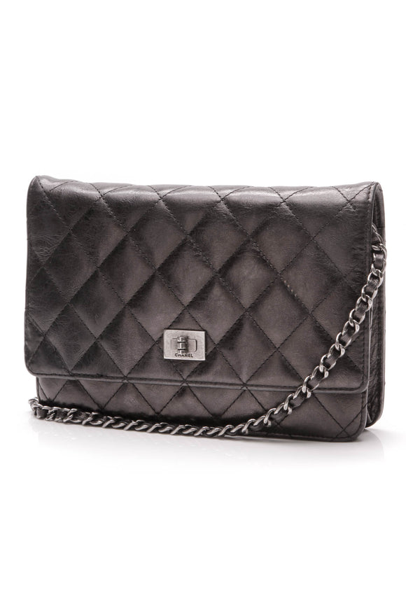 Chanel Reissue WOC Clutch Bag Calfskin Leather Black