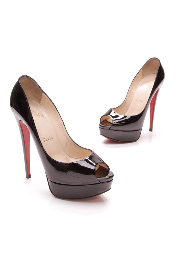 Christian Louboutin Lady Peep 150 Pumps Black Size 36.5