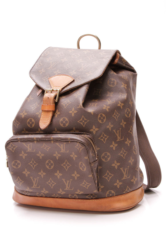 Louis Vuitton Vintage Montsouris GM Backpack Monogram Canvas Brown