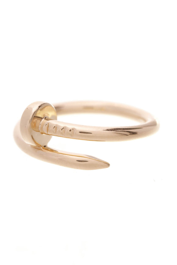 Cartier Un Clou Ring 18K Yellow Gold Size 9