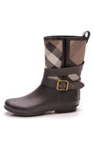 Burberry Holloway Rain Boots Size 35 Black