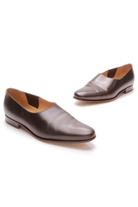 Hermes Forever Ladies Shoes Brown Size 38.5