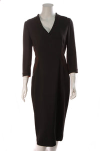L'Wren Scott Lace Side Panel Dress Black Red Size 48