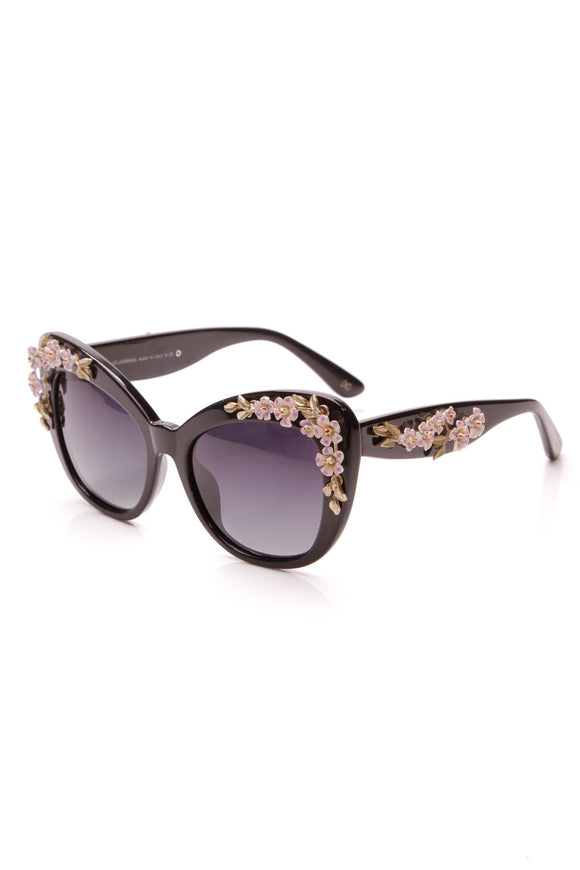 Dolce and Gabbana Almond Flower Sunglasses Black